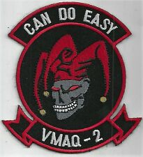 USMC VMAQ-2 PATCH     'CAN DO EASY'      THE JESTER DESIGN            FULL COLOR