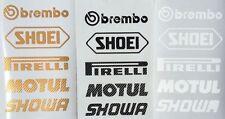 Brembo Shoei Motorsport Sponsoren Carbon Aufkleber Racing Set