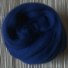 100g Merino Wool Tops 64's Dyed Fibres - Navy - Felt Making and Spinning