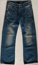 REPLAY NEW OLD STOCK Distressed Womens Jeans Hong Kong Sz 25 Blue Tapered