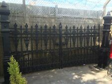 12 ft Cast Iron Gates, Iron Driveway Gates , 12ft opening Gates only no posts