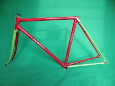Makino Red / Green Two Tone NJS Keirin Frame Track Bike Fixed Gear .