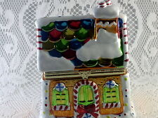 Mr. Christmas Gingerbread House Music Box with Animated Dancers Inside RARE