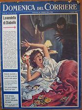 DOMENICA DEL CORRIERE anno 67 n° 14 del 1965 con DIABOLIK