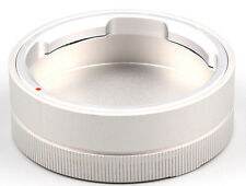 Silver Metal Rear Lens Cap fits For LEICA M Mount Camera Lenses X 1