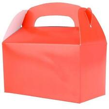 12 RED COLOR TREAT BOXES Birthday Party Loot Goody Bags #ST20 FREE SHIPPING