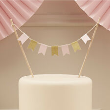 Pink Gold Pastel Perfection Cake Bunting - Birthday/Wedding/Afternoon Tea Party