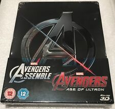 Avengers Assemble & Avengers:Age Of Ultron Steelbook 3D & 2D Blu-Ray Double Pack