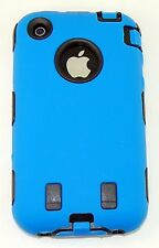 Body Armor Hybrid Shell Case Cover for Apple iPhone 3G / 3GS - Blue & Black New