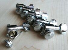 Lock Wilkinson 6R Chrome Guitar Locking Tuners JN-07 SP Fits Fende Strat Tele,