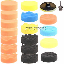 19pcs 80mm High gross Polishing Buff Pad Kit For Car Polisher+Drill Adapter-M14