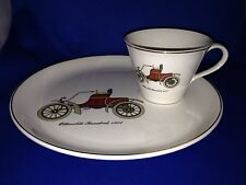 Salem China Named Dated Antique 1903 Oldsmobile Runabout Cup & Plate