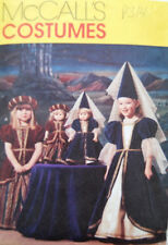 """McCalls 2383 18"""" Girl Doll Matching Pattern Medieval Costumes Size 3-4-5"""