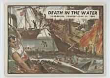 1962 Topps Civil War News #69 Death in the Water Non-Sports Card 0a6