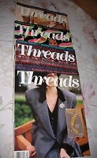Lot of 4 THREADS MAGAZINES - Feb/Mar- April/May- Aug/Sept- June/July 1990  NICE!