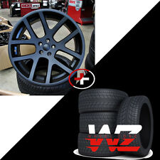"22"" Viper Style Wheels w Tires Black Fits Dodge Ram 1500 Durango Dakota 5x139.7"