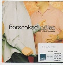 (FJ281) Barenaked Ladies, Too Little Too Late - 2001 DJ CD