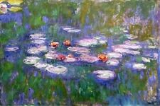 FINE ART  FRIDGE MAGNET - MONET - WATER LILIES