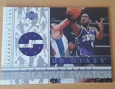 2002-03 UD Glass Superlative Swatch #CWS Chris WEBBER