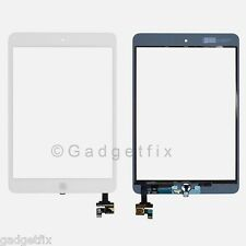 US White Touch Screen Digitizer IC Connector Home Button Flex for Ipad Mini 1 2