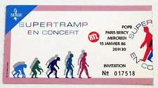 SUPERTRAMP : rare billet ticket concert FRANCE Paris Bercy 15/01/1986