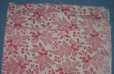 VINTAGE PRINTED FEED FLOUR SACK QUILTING PINK & WHITE 36X42