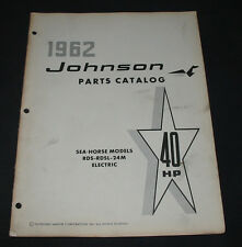 Parts Catalog Johnson Sea Horse RDS RDSL 24M Electric 40 HP ET Katalog 1962!
