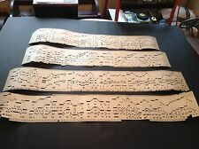 Circa 1880 Lot of 4 Mechanical Organette Roller Organ Tune Sets