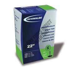 """22"""" x 1.00"""", 1 1/8"""" Schwalbe Inner Tube Schrader AV8A Valve Wheel Chair [S36-1]"""