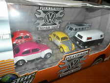 GREENLIGHT 1/64 MOTOR WORLD VW DIORAMA VOLKSWAGEN BUG, BETTLE, BUS, REPAIR SHOP