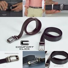 New Comfort Click Leather Belt with Steel For Men Brown And Black As Seen on TV