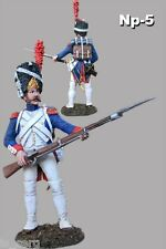 New Elite 1/32 Veteran Napoleon's French Army Hand Painted Tin Toy Soldiers 54mm