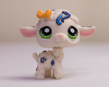 *Littlest Pet Shop* LPS #1068 white Postcard Sheep Lamb Confetti w/ Green Eyes