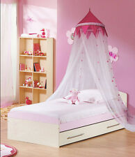 Pink Lovely Princess Girl Decorative Dome Bedding Netting Canopy Twin Full Queen