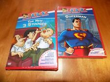 THE NEW 3 STOOGES SUPERMAN SATURDAY CARTOONS Classic TV Bazooka Joe DVD SET NEW