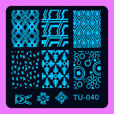 NEW Stamping Manicure Image Nail Art Image Stamp Template Tool Plate Polish T-40