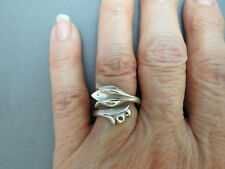 Vintage Sterling Silver Avon Tulip Wrap Around Ring Adjustable Size 7