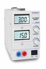 PeakTech 6080 Digital laboratorio rete dispositivo/Laboratory power supply, 0-15 v/0 - 3 a DC