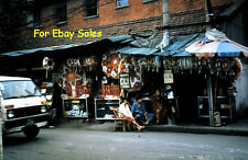 Old 35mm Amateur Slide - Photo - Hong Kong Street- Store