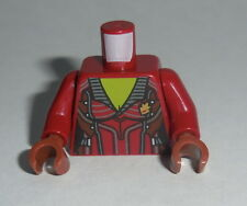 TORSO F005 Lego Female Dark Red Open Jacket,Silver Buttons Lime Chest NEW Gamora
