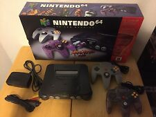 Nintendo 64 Console Atomic Purple Variant Complete in Box Expansion pack CIB N64
