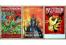MASTODON Emperor of Sand | Once More Round Sun | The Hunter Ltd Ed 3 Posters Lot