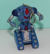 "Vintage 1997 Lost In Space Blue Robot Keychain Toy  - Lights up - 3"" Tall - Rare"