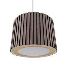 Mocha 350mm Pleated Non Electric Lamp Shade Ceiling Light With Ivory Diffuser
