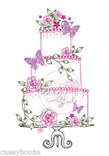 Clear Rubber Stamps - Wedding Cake - Butterflies - Flowers - 213 - New Release