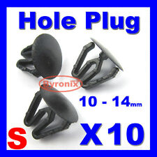HOLE PLUGS PLASTIC BLANKING GROMMET TRIM SNAP IN CLIPS KIT CAR BOAT BIKE BLACK S