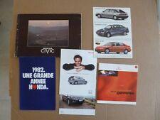 N°2048 bis  / HONDA  lot de 6 catalogues et dépliants  1978-2005