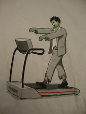 Endless Walking Zombie on A Treadmill Monster Glennz Funny Joke Soft T Shirt XL