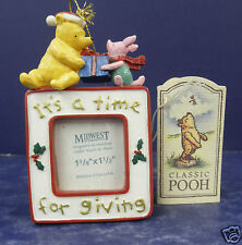 Midwest of Cannon Falls Classic Pooh & Piglet Frame Ornament- New- RETIRED