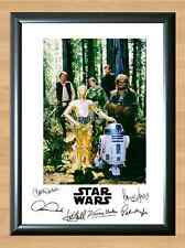 STAR WARS Han Solo Luke Skywalker Cast Signed Autographed A4 Poster Photo Print